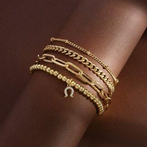 14K Gold Bracelet Link Miami